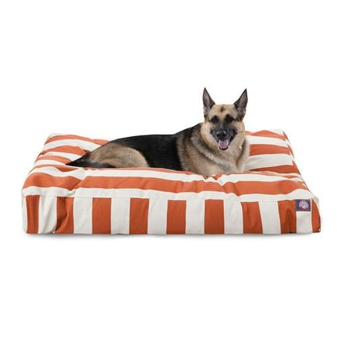Majestic Pet Products Burnt Orange Vertical Stripe Extra Large Rectangle Pet Bed - Peazz.com
