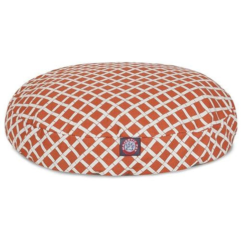 Majestic Pet Products Burnt Orange Bamboo Small Round Pet Bed - Peazz.com