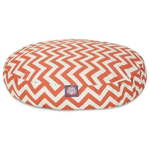 Majestic Pet Products Burnt Orange Chevron Small Round Pet Bed - Peazz.com