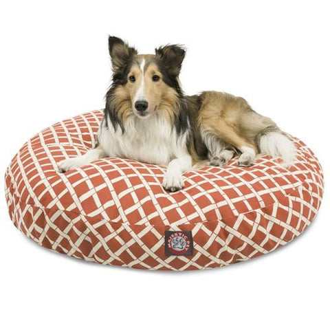 Majestic Pet Products Burnt Orange Bamboo Medium Round Pet Bed - Peazz.com