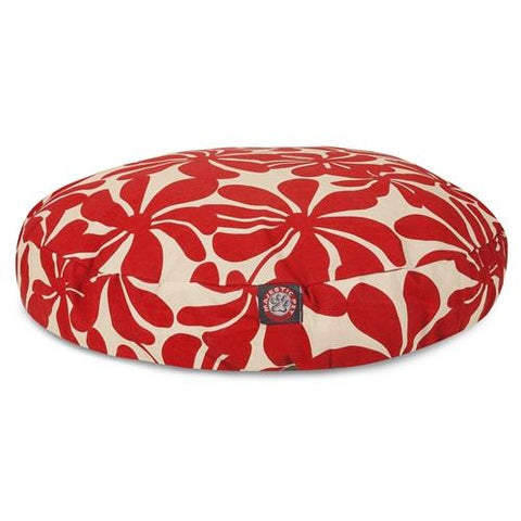 Majestic Pet Products Red Plantation Medium Round Pet Bed - Peazz.com