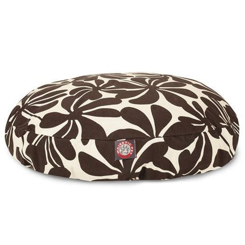 Majestic Pet Products Chocolate Plantation Large Round Pet Bed - Peazz.com