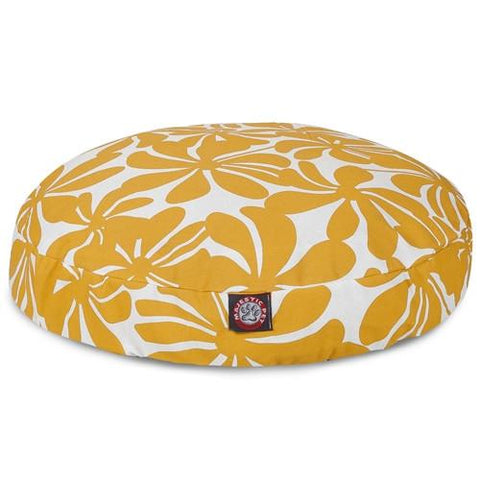 Majestic Pet Products Yellow Plantation Large Round Pet Bed - Peazz.com