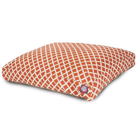 Majestic Pet Products Burnt Orange Bamboo Small Rectangle Pet Bed - Peazz.com