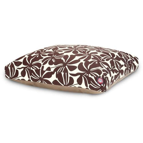 Majestic Pet Products Chocolate Plantation Small Rectangle Pet Bed - Peazz.com