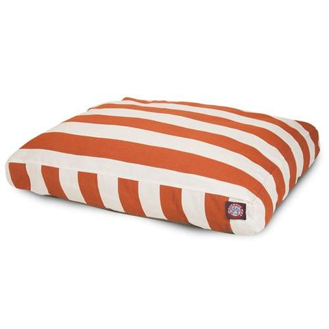Majestic Pet Products Burnt Orange Vertical Stripe Small Rectangle Pet Bed - Peazz.com