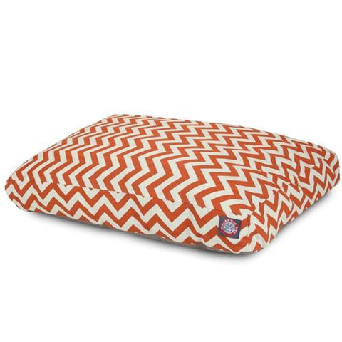 Majestic Pet Products Burnt Orange Chevron Small Rectangle Pet Bed - Peazz.com