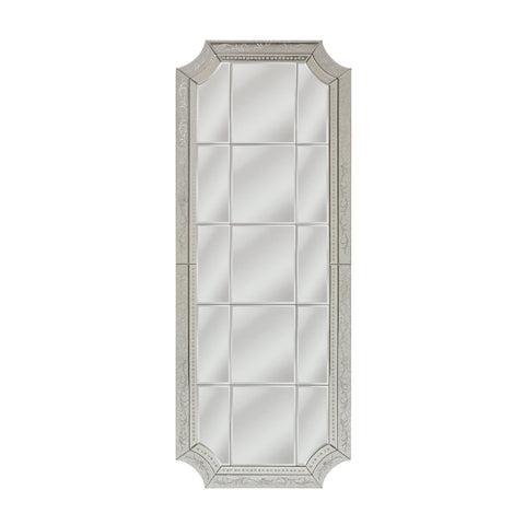 Mirror Masters MG3331-0005 Long Edwardian Collection Silver Finish Wall Mirror