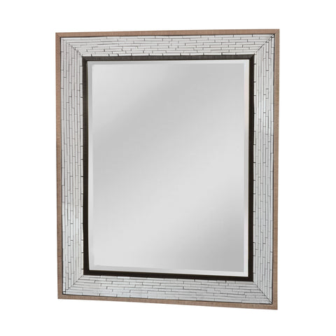Mirror Masters MG4510-0000 Fredmont Collection Brown,Black,Clear Finish Wall Mirror