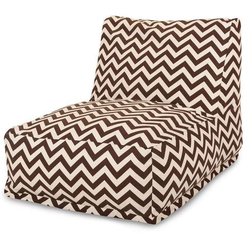 Outstanding Majestic Home Goods 85907220328 Chocolate Chevron Bean Bag Chair Lounger Machost Co Dining Chair Design Ideas Machostcouk