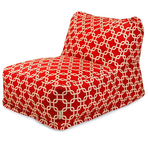 Majestic Home Goods 85907220332 Red Links Bean Bag Chair Lounger - Peazz.com