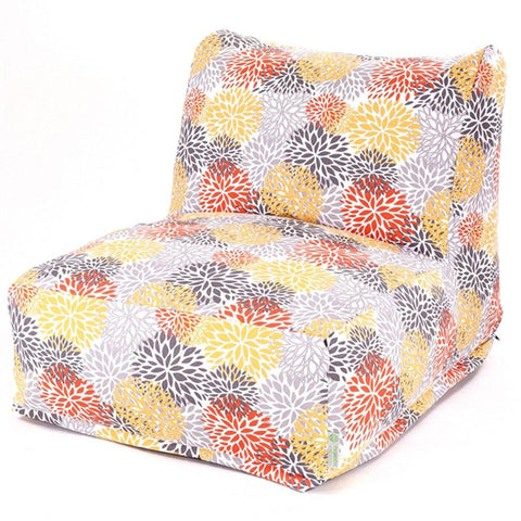 Majestic Home Goods 85907220376 Citrus Blooms Bean Bag Chair Lounger - Peazz.com