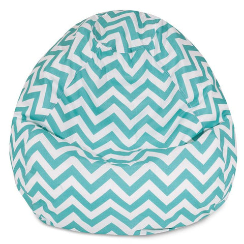 Majestic Home Goods 85907224099 Teal Chevron Small Classic Bean Bag - Peazz.com