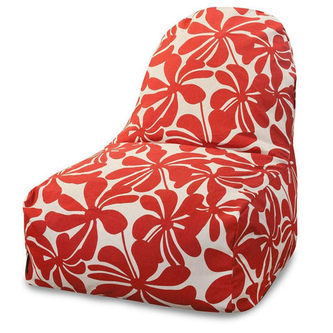 Majestic Home Goods 85907227017 Red Plantation Kick-It Chair - Peazz.com