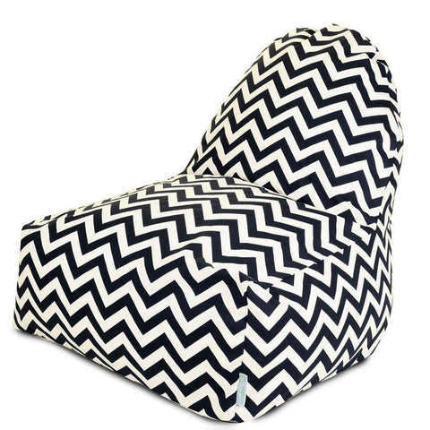 Majestic Home Goods 85907227030 Black Chevron Kick-It Chair - Peazz.com