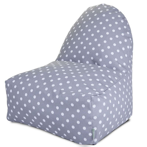 Majestic Home Goods 85907227071 Gray Ikat Dot Kick-It Chair - Peazz.com