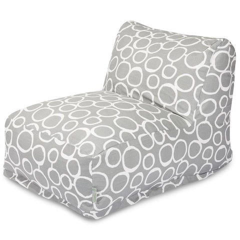 Majestic Home Goods 85907238046 Fusion Gray Bean Bag Lounger Chair - Peazz.com