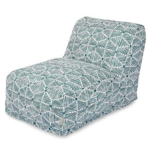 Majestic Home Goods 85907238062 Charlie Emerald Bean Bag Lounger Chair - Peazz.com