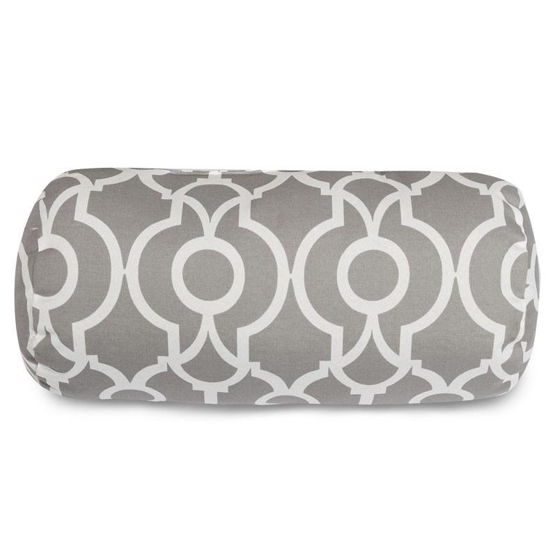 Majestic Home Goods 85907246038 Athens Gray Round Bolster Pillow 18.5x8