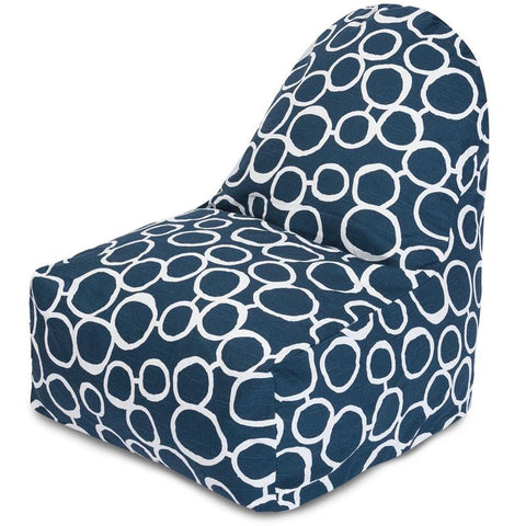 Majestic Home Goods 85907251045 Fusion Navy Kick-It Chair - Peazz.com