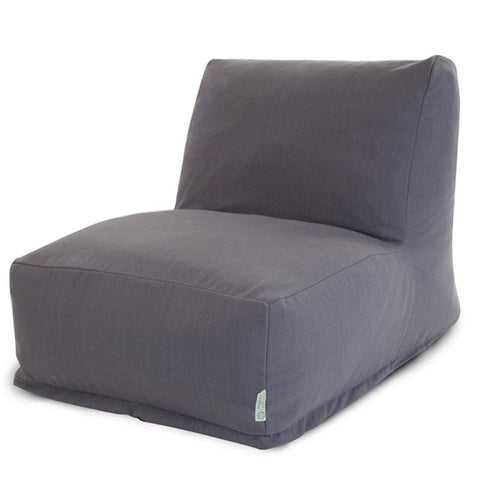 Majestic Home Goods 85907260302 Gray Wales Bean Bag Chair Lounger - Peazz.com