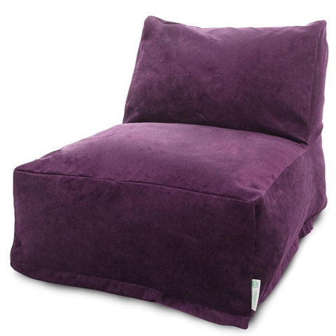Majestic Home Goods 85907260333 Villa Aubergine Bean Bag Chair Lounger - Peazz.com