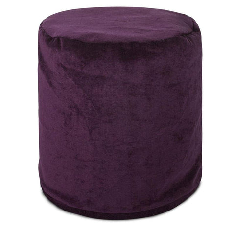 Majestic Home Goods 85907260433 Villa Aubergine Small Pouf - Peazz.com