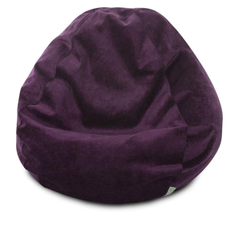 Majestic Home Goods 85907264033 Villa Aubergine Small Classic Bean Bag - Peazz.com