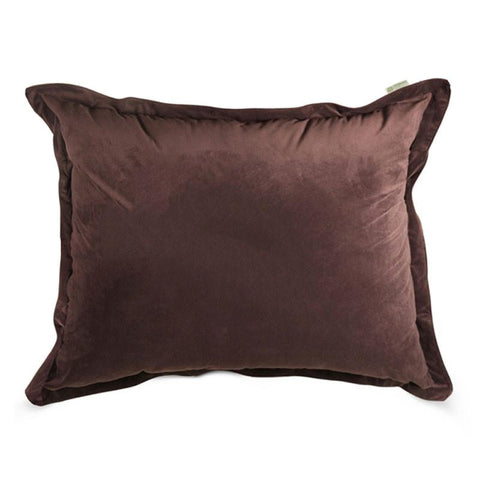 Majestic Home Goods 85907266007 Dark Brown Micro-velvet Floor Pillow - Peazz.com