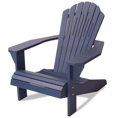 Majestic Home Goods 85907290002 Laguna Collection Navy Adirondack Chair - Peazz.com