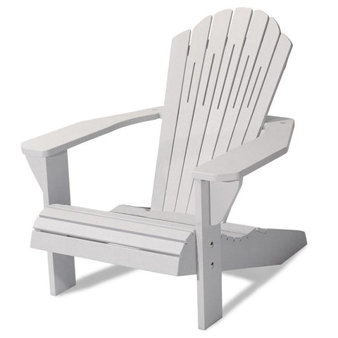 Majestic Home Goods 85907290003 Laguna Collection Gray Adirondack Chair - Peazz.com