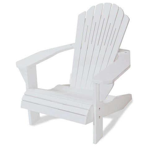 Majestic Home Goods 85907290004 Laguna Collection White Adirondack Chair - Peazz.com