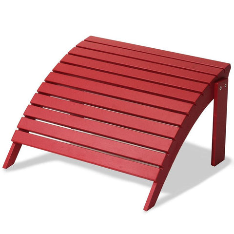 Majestic Home Goods 85907290031 Laguna Collection Red Adirondack Ottoman - Peazz.com