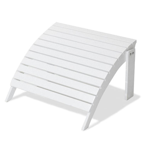 Majestic Home Goods 85907290034 Laguna Collection White Adirondack Ottoman - Peazz.com