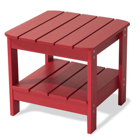 Majestic Home Goods 85907290061 Laguna Collection Red Adirondack Table - Peazz.com