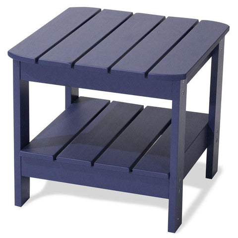 Majestic Home Goods 85907290062 Laguna Collection Navy Adirondack Table - Peazz.com
