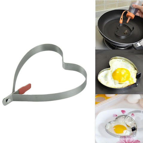 Merske MK10002 Stainless Steel Heart Shaped Egg Mold - Peazz.com - 1