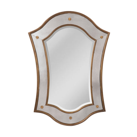 Mirror Masters MP3882-0014 Cornell Collection Mayan Gold Finish Wall Mirror