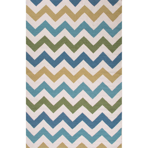 Jaipur Rugs RUG112882 Flat-Weave Durable  Wool Ivory/Blue Area Rug ( 8x10 )