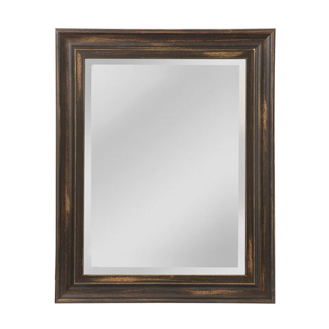 Mirror Masters MW1100B-0056 Edison Collection Distressed Medium Bronze Finish Wall Mirror