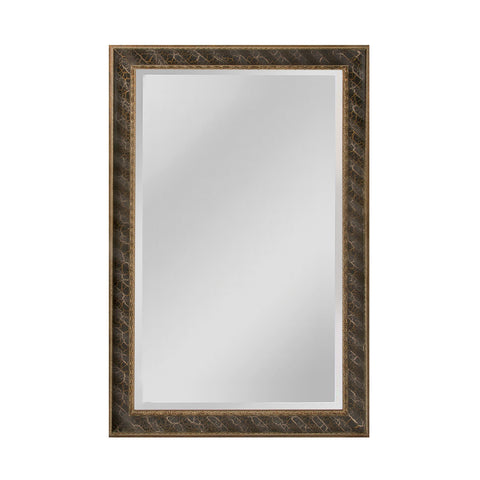 Mirror Masters MW4024B-0052 Clearfield Collection Light Antique Silver,Gold,Black Finish Wall Mirror