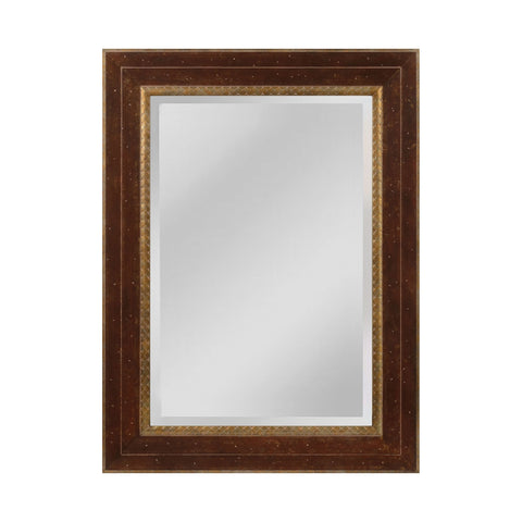 Mirror Masters MW4053A-0036 Darcey Collection Walnut,Roman Gold Finish Wall Mirror