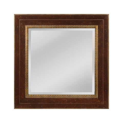Mirror Masters MW4053C-0036 Darcey Collection Walnut,Roman Gold Finish Wall Mirror