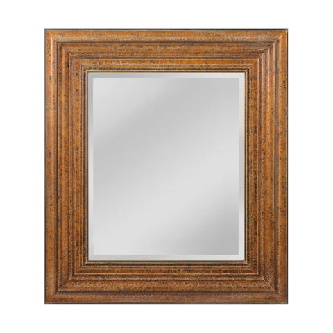Mirror Masters MW4074A-0039 Barnett Collection Crackled Bronze Finish Wall Mirror