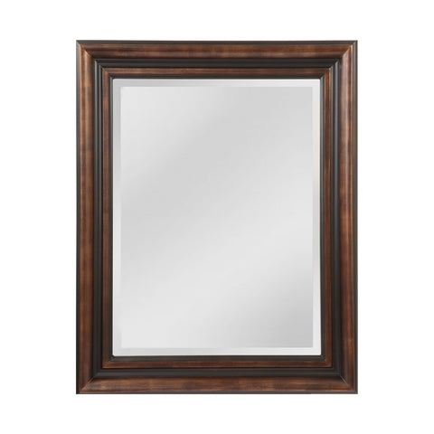 Mirror Masters MW4105B-0037 Gastonia Collection Walnut,Black Finish Wall Mirror