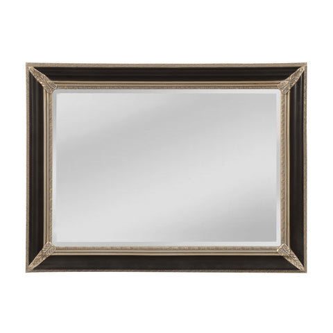 Mirror Masters MW5800C-0044 Kingsdale Collection Aged Sterling,Ebony Crackle Finish Wall Mirror