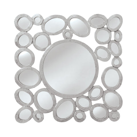Mirror Masters MW7888-0018 Orveta Collection Silver,Black Finish Wall Mirror