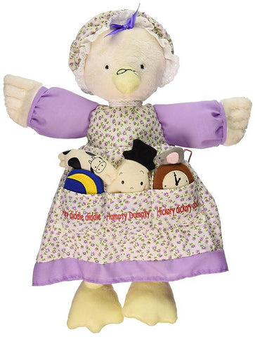 North American Bear 6624 Dolly Pockets Nursery Verse Toys