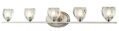 Z-Lite 3022-5V-LED Hale Collection Brushed Nickel Finish 5 Light Vanity Light