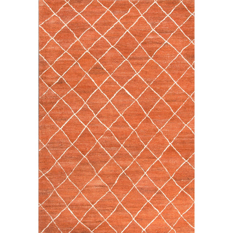 Jaipur Rugs RUG113130 Hand-Tufted Durable Wool Red/Ivory Area Rug ( 4X6 )